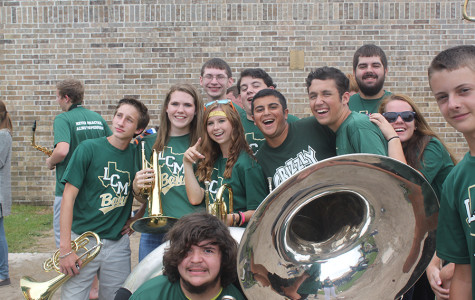 Band members perform on Football Friday