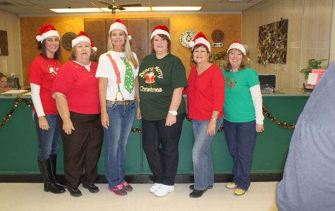 Faculty Shows Their Christmas Spirit!