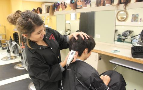 Cosmetology Students Stay Busy with Clients