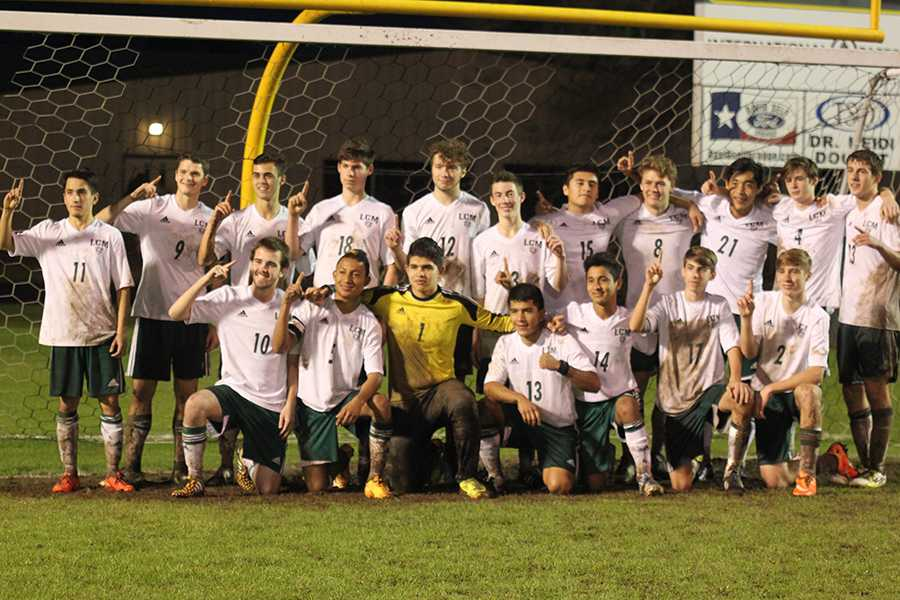 The+boys+soccer+team+captured+the+district+championship+for+the+first+time+in+LCM+history.+