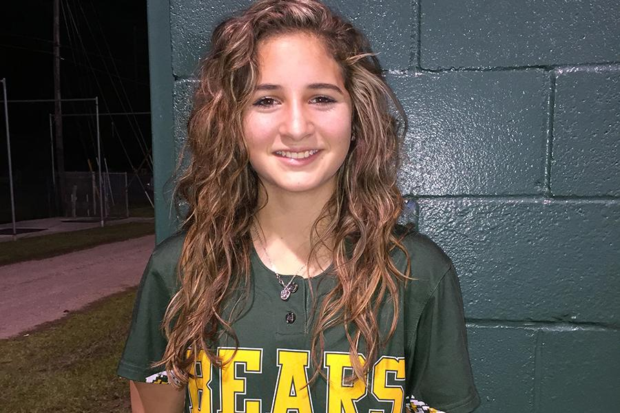 Freshman+Jonee+Villanueva+has+made+big+moves+on+the+varsity+softball+team.+
