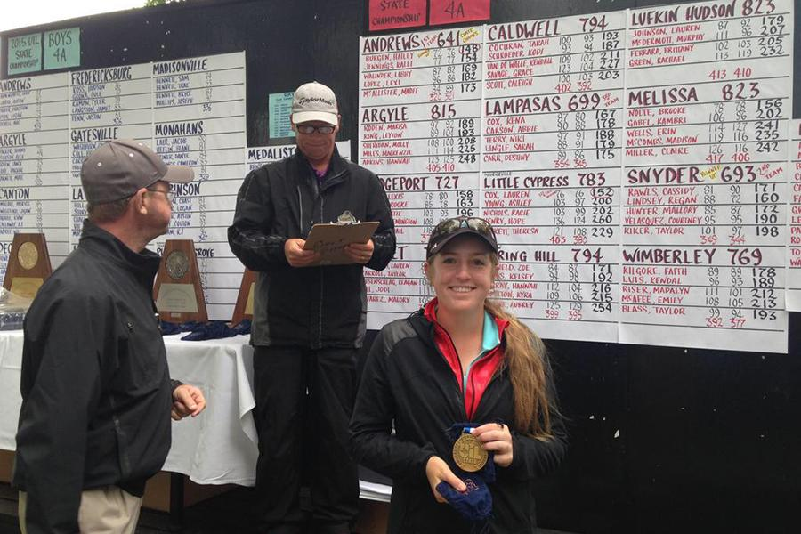 Junior+Lauren+Cox+brought+home+the+bronze+medal+from+the+State+Golf+Tournament.+