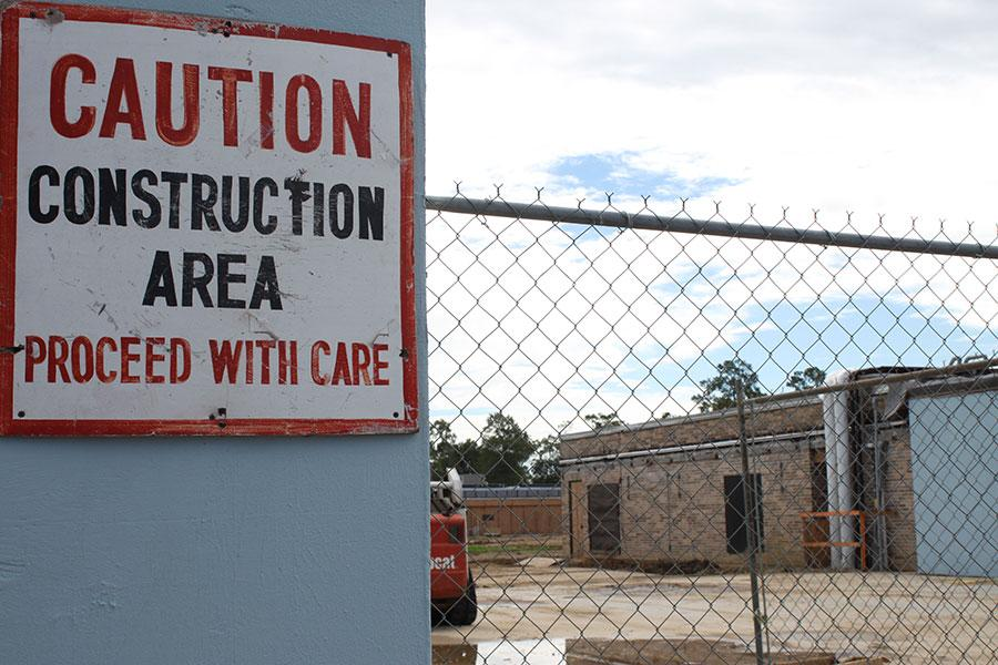 Students have had to adapt to the construction changes on campus.