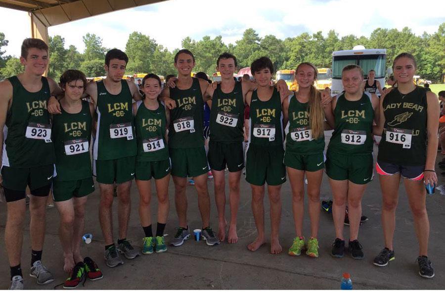 The Cross Country teams celebrate success after the Cardinal Classic.