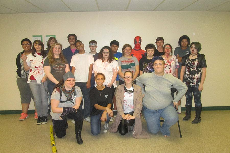 Anime club is zombiefied for the night.