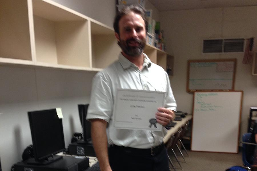 Cory Parsons is one of the teachers who received a teacher superlative.