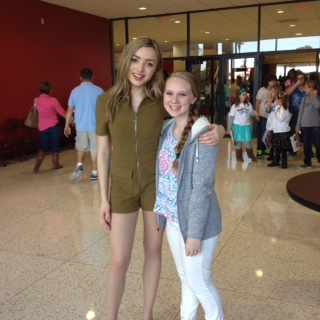 Freshman Darian Simmons hangs out with Peyton List.