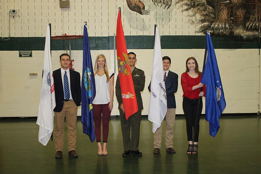 Student+Council+members+presented+the+flags+during+the+assembly.+
