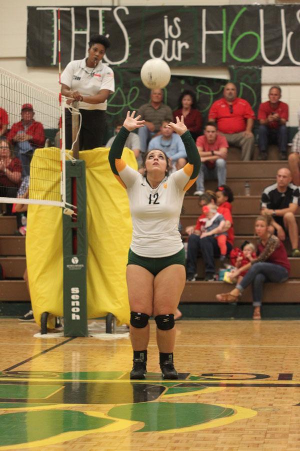 Senior Jordyn sets up one of her teammates