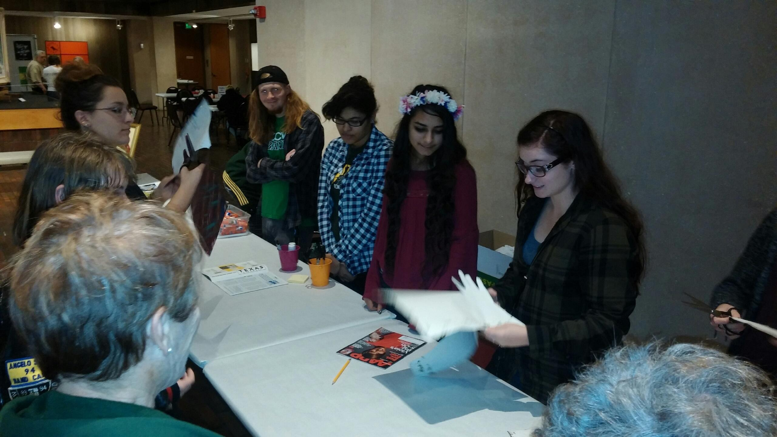 LCM art students participate in the Third Thursday art show at the Stark Museum.