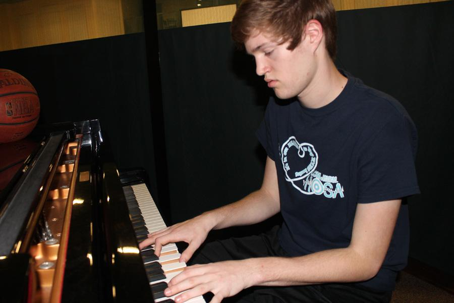 Sophomore Tyler Miller has a passion for playing the piano.