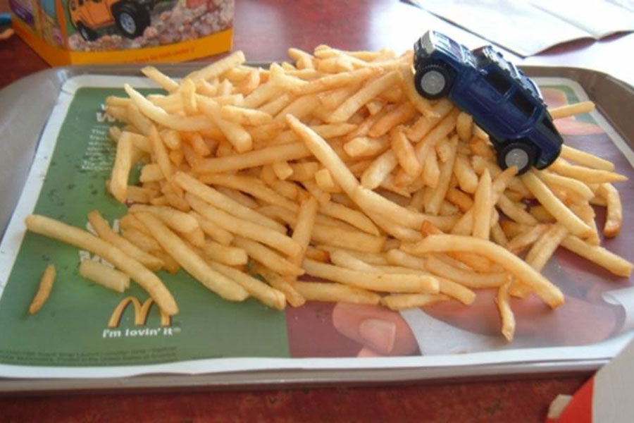 All-you-can-eat French fries at McDonald's is a bad idea.