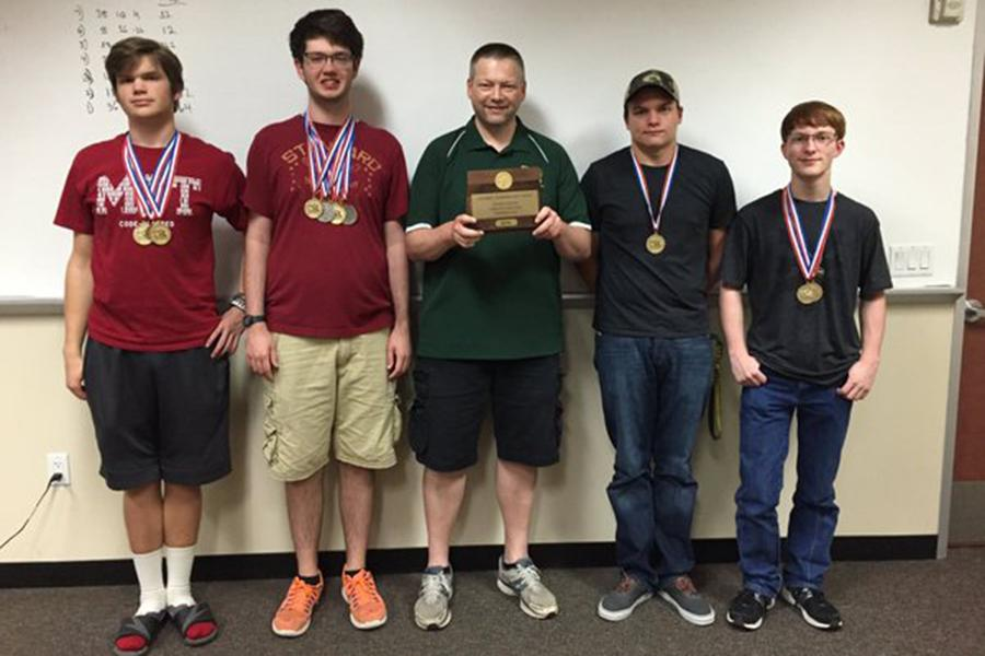 The Computer Science team placed first at the Regional meet.