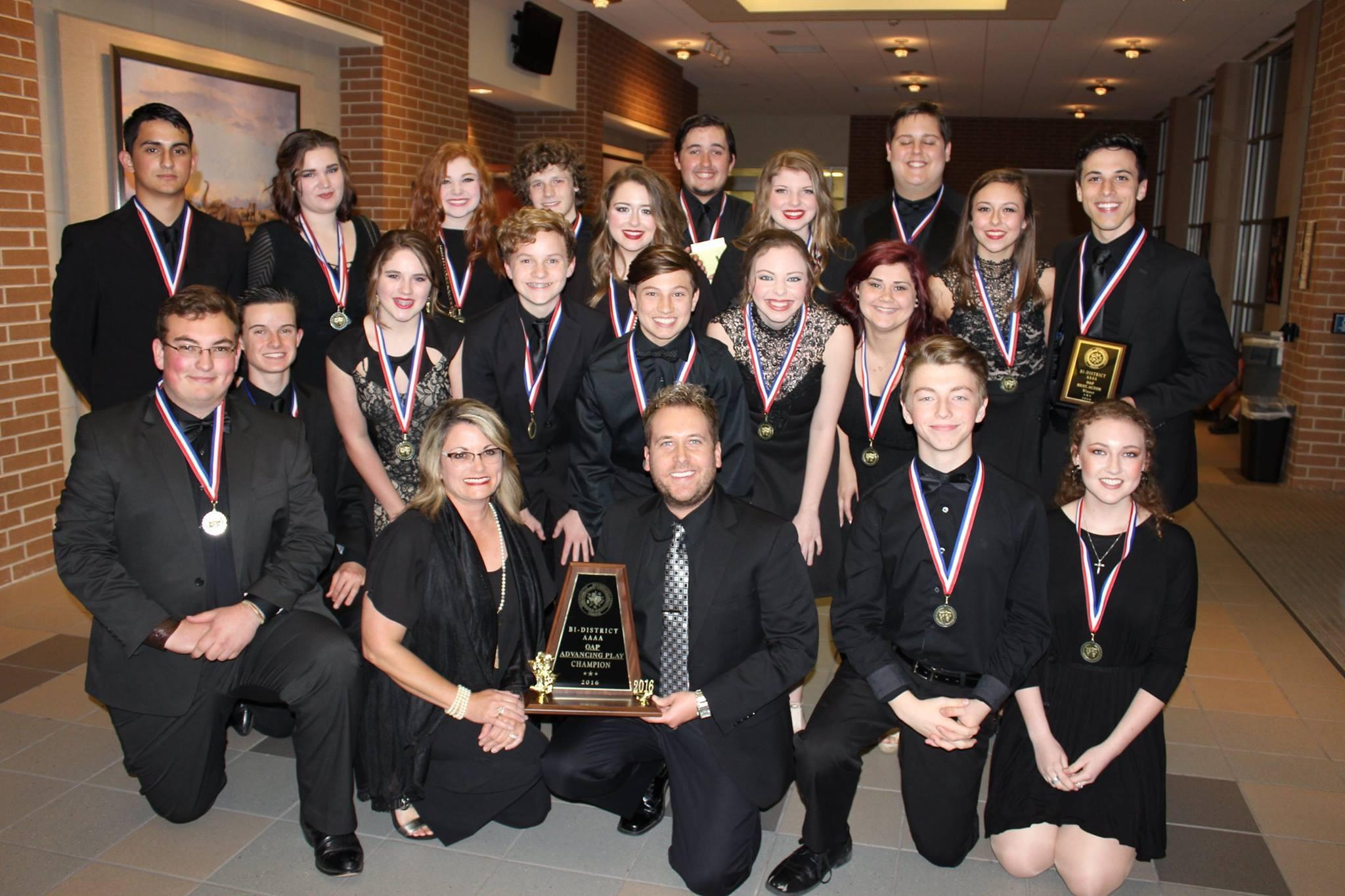 The One Act Play cast and crew recently advanced to the Area round of competition with their performance of