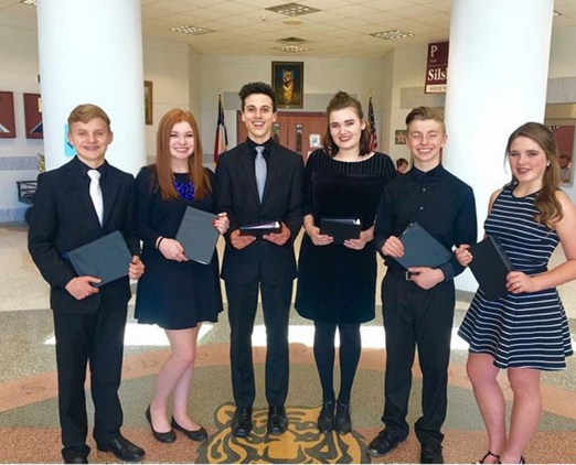 The prose and poetry team had four out of their seven readers advance to Regionals.