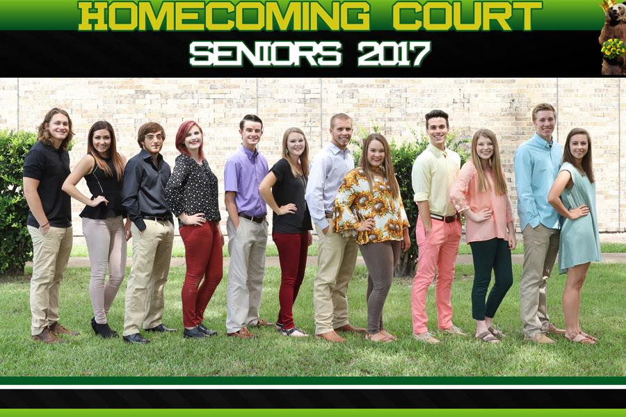 Two of these seniors will be picked for Homecoming King and Queen this Friday night.