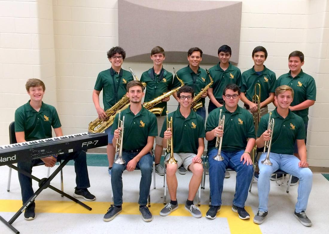 Several members of the band were selected to be part of the All-Region Jazz Band.