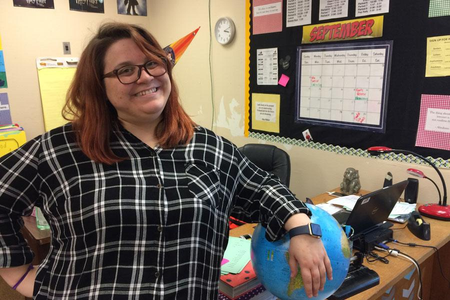 English teacher Erin Tarver is in her first year at LCM.