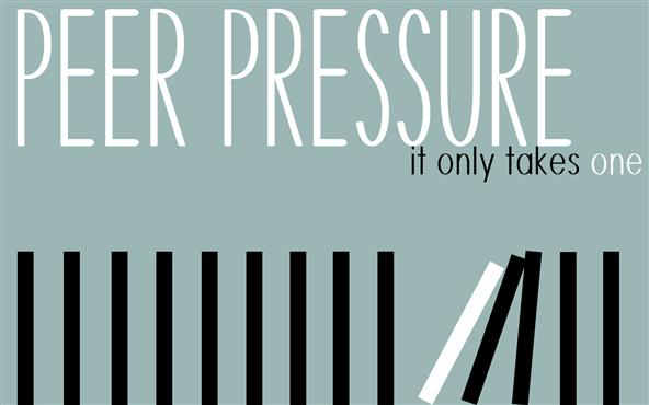 Peer pressure is typically viewed as negative, but it can be positive as well.