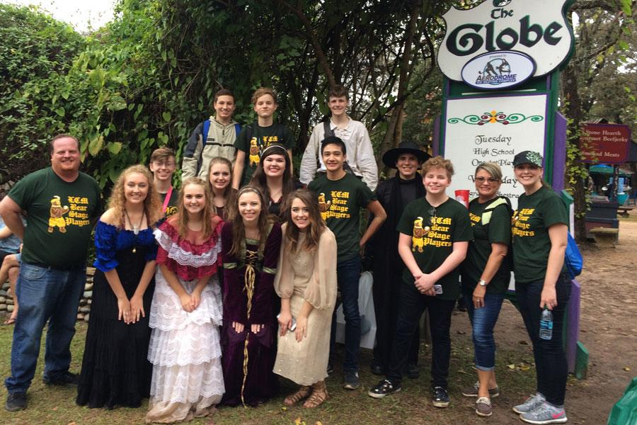 Theatre Director Clark Reed and his Thespian performers compete at the Renaissance Festival.
