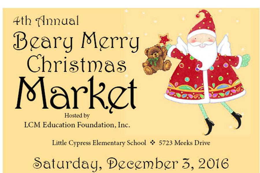 The Beary Merry Christmas Market will be held this Saturday.