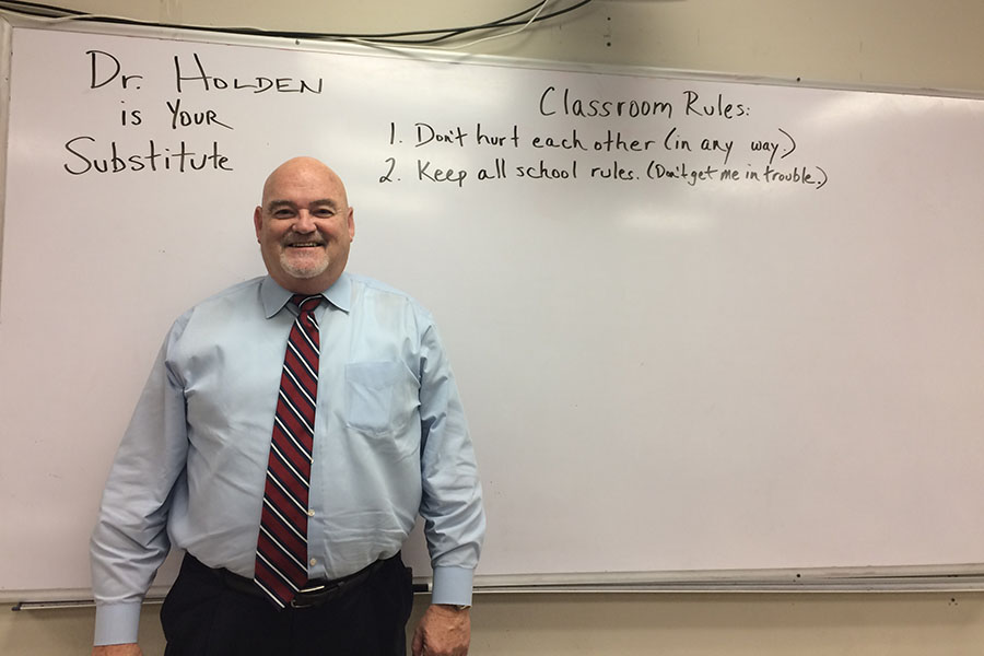 The high school recently welcomed new substitute, Dr. Terry Holden.