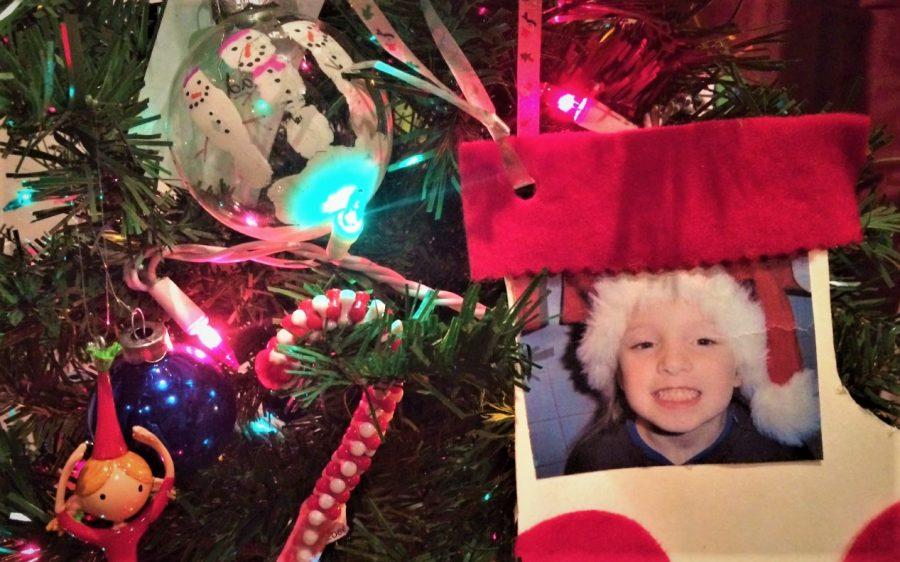 The+Rogers+family+Christmas+tree+is+decorated+with+meaningful+ornaments.+