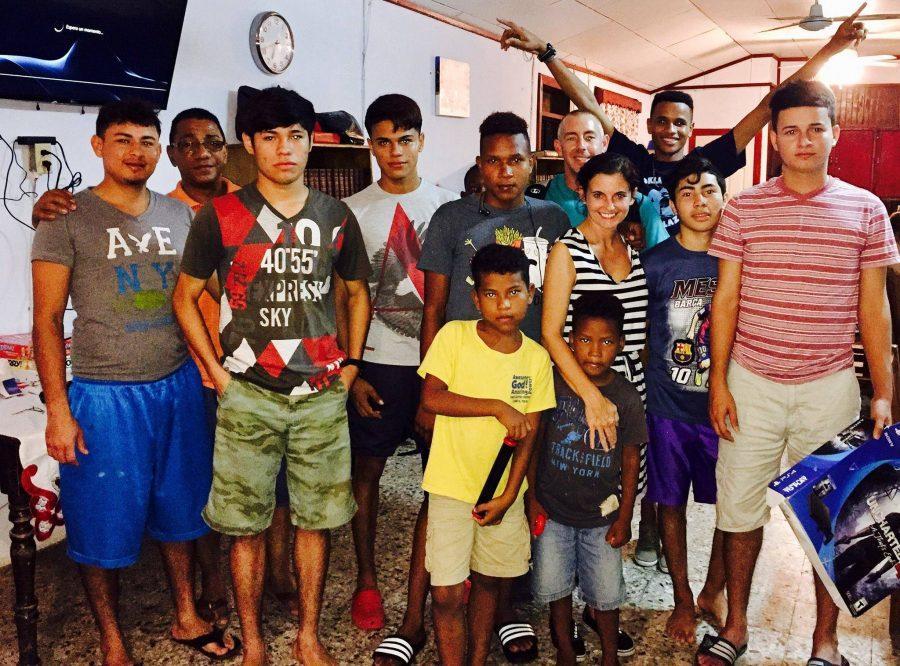 The Teeler family celebrates Christmas with Honduras children.