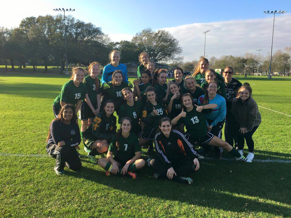 The Lady Bear Soccer team was all smiles after going undefeated at the Brenham tournament.