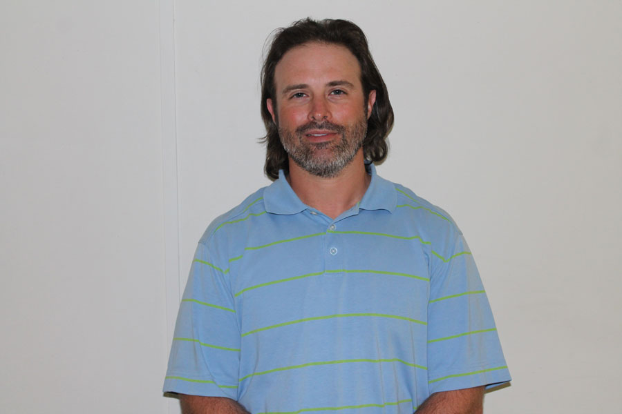 Cory Parsons is in his second year as the tennis coach.