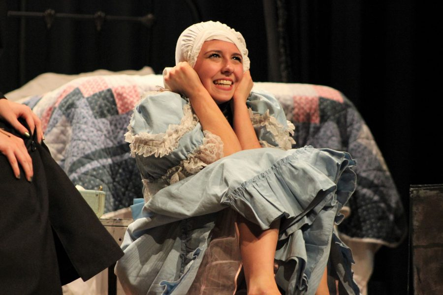 Sydney+Smith+portrays+Helen+Keller+in+the+One+Act+Play+%22The+Miracle+Worker.%22+