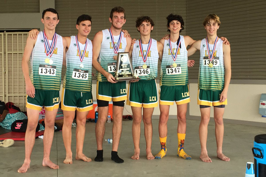 The boys cross country team placed first at the District meet and advanced to Regionals.