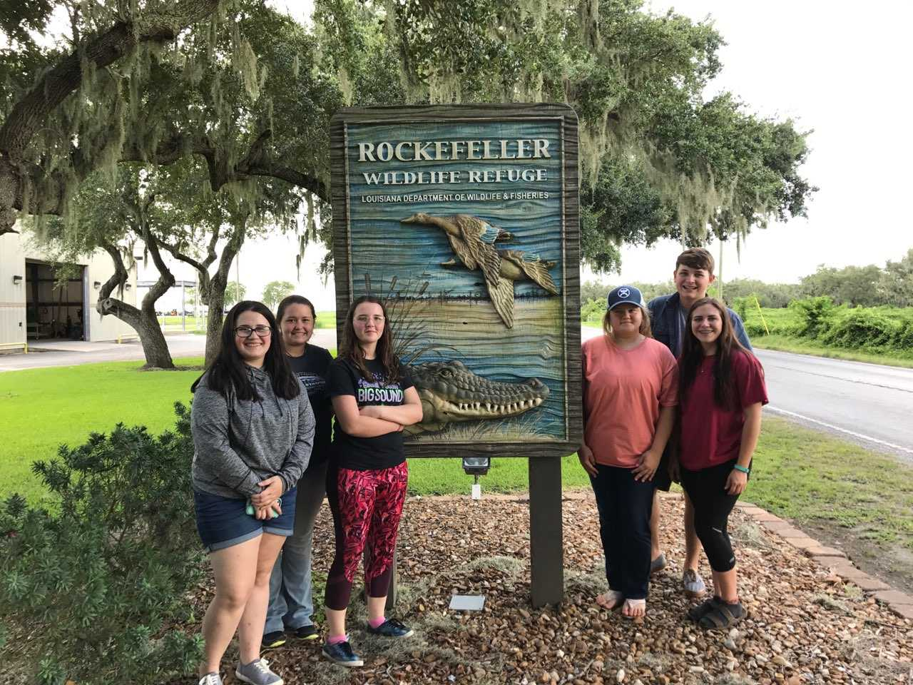 FFA members visit the Rockefeller Wildlife Refuge in Louisiana.