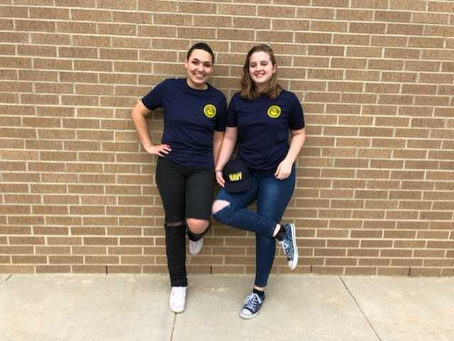 Seniors Cheyenne Pucheta and Zoee Rogers will embark on a journey in the Navy after graduating.