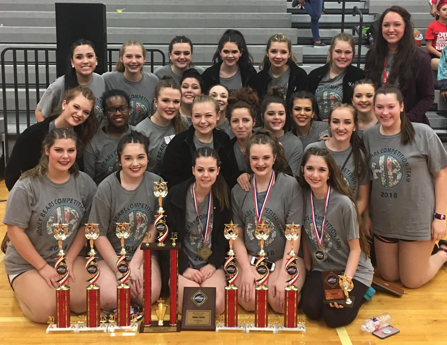 The Honey Bears competed in the Coastal Dance Championship at Goose Creek Memorial High School.