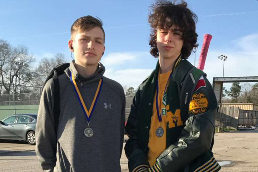 Freshmen Colton Smith and Cameron Smith placed second in their bracket at the Hamshire Fannett tournament.