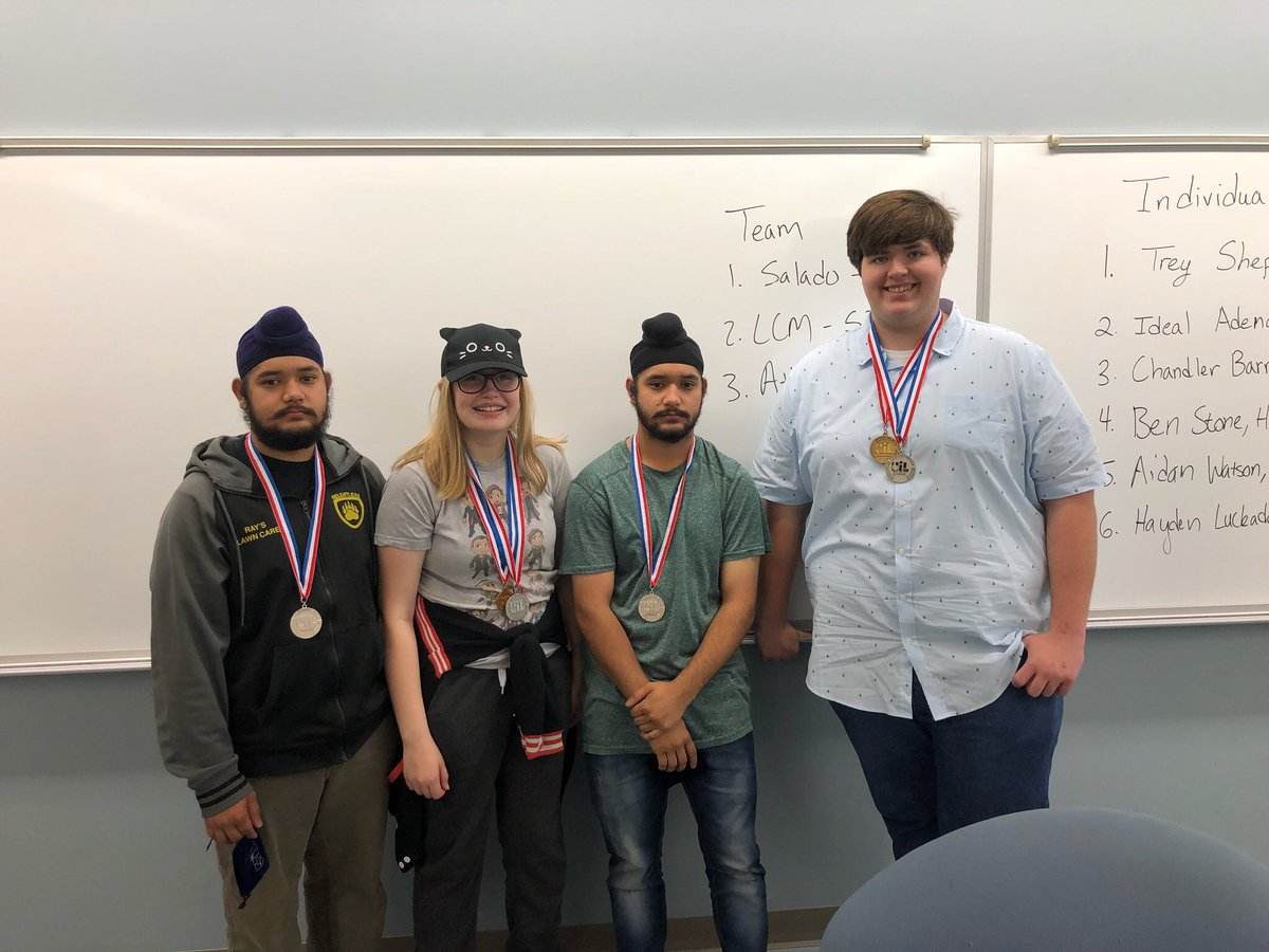 The Number Sense team placed second at the Regional meet.