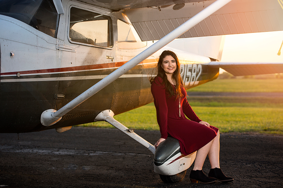 Senior Natalie Poulin utilizes her passion for flying and inspiring others to pursue her flight license.