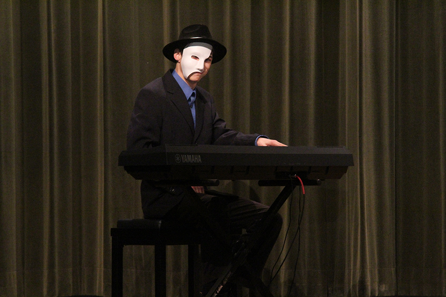 Sophomore Steven Williams performed at the school talent show last week. He even dressed the part.