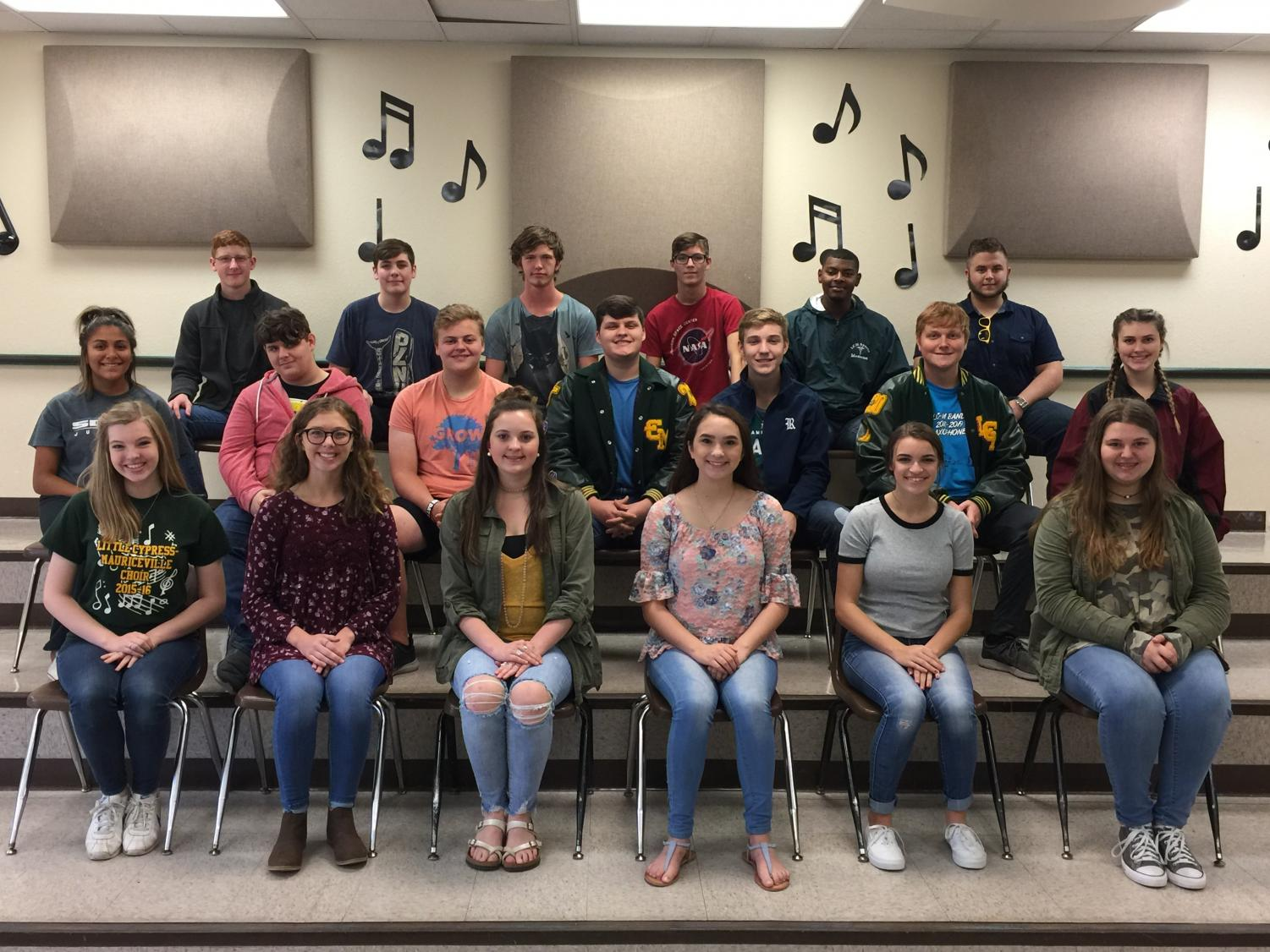 Students have been selected for the TMEA- All Region choir.