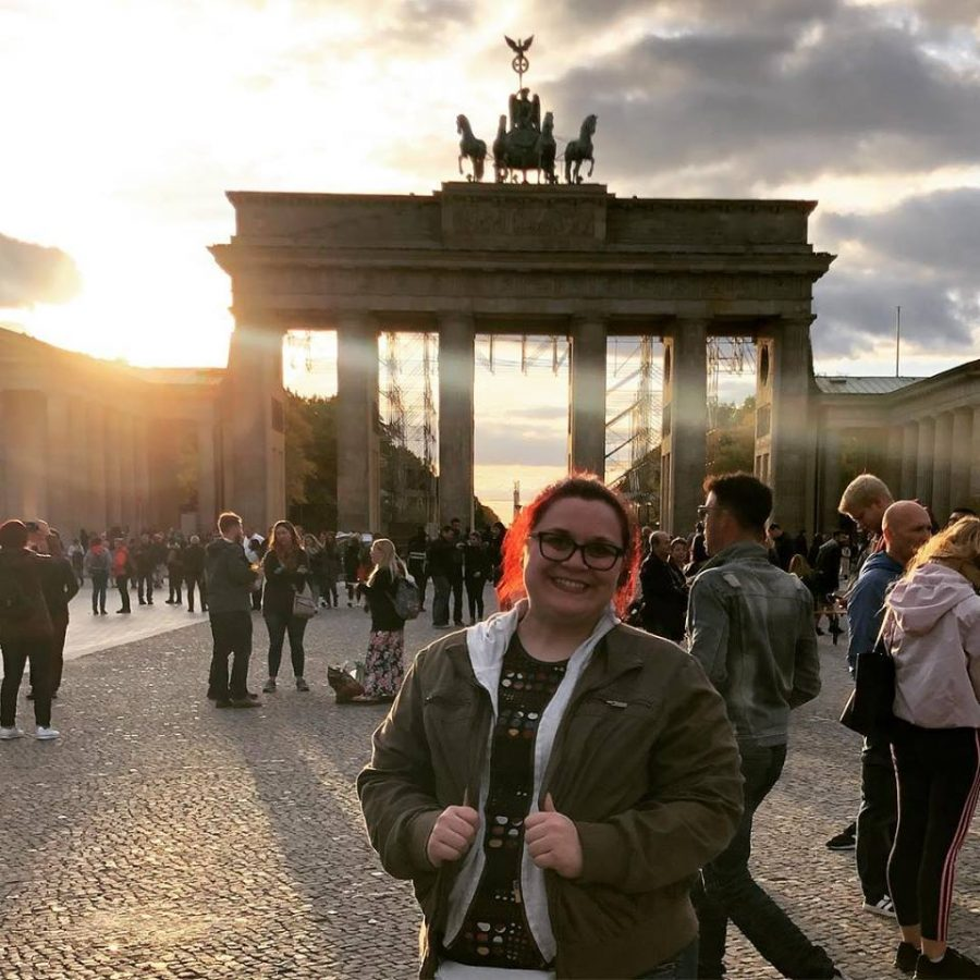 Erin+Tarver+stands+in+front+of+the+Brandenburg+Gate+in+Berlin%2C+Germany.+