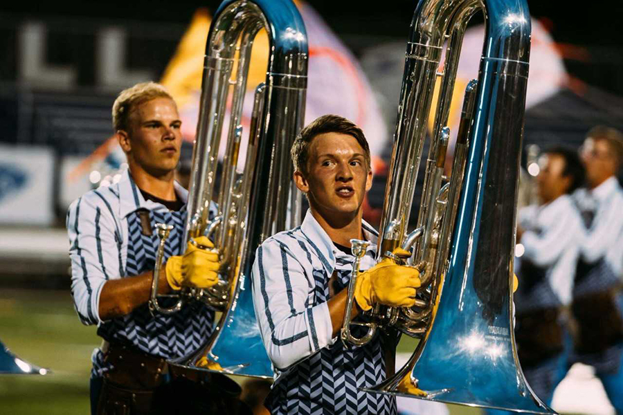 Senior Kaimen Swanton has spent the last three summers marching in Drum Corps International.