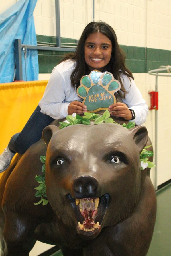 Senior Nyah Patel has an abundance of school spirit and always has a positive attitude.