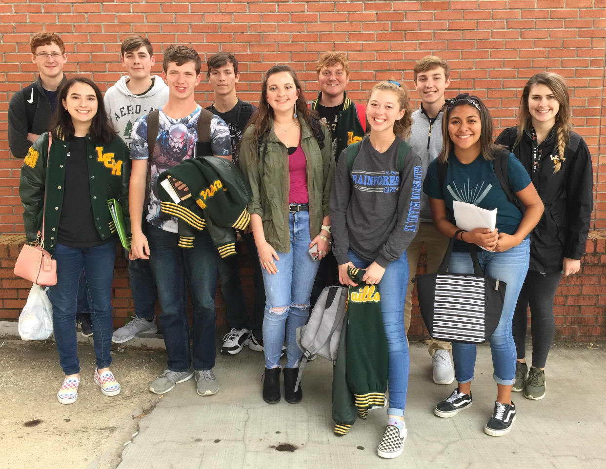 Several choir students recently advanced to the Area competition.