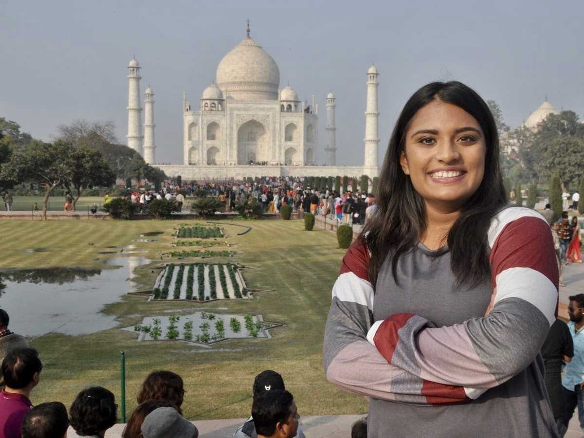 Senior Nyah Patel traveled to India over the Christmas break.