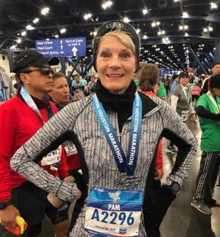 Receptionist by weekday, marathon runner by weekend