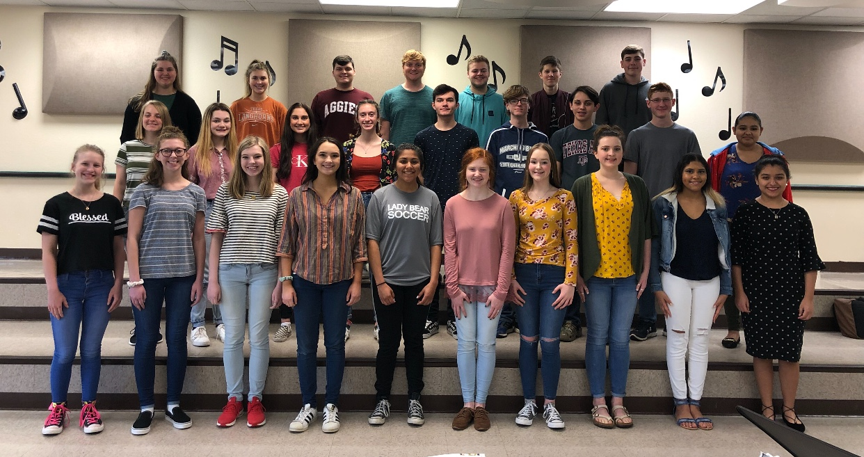 Several choir students advanced to the State level of competition.