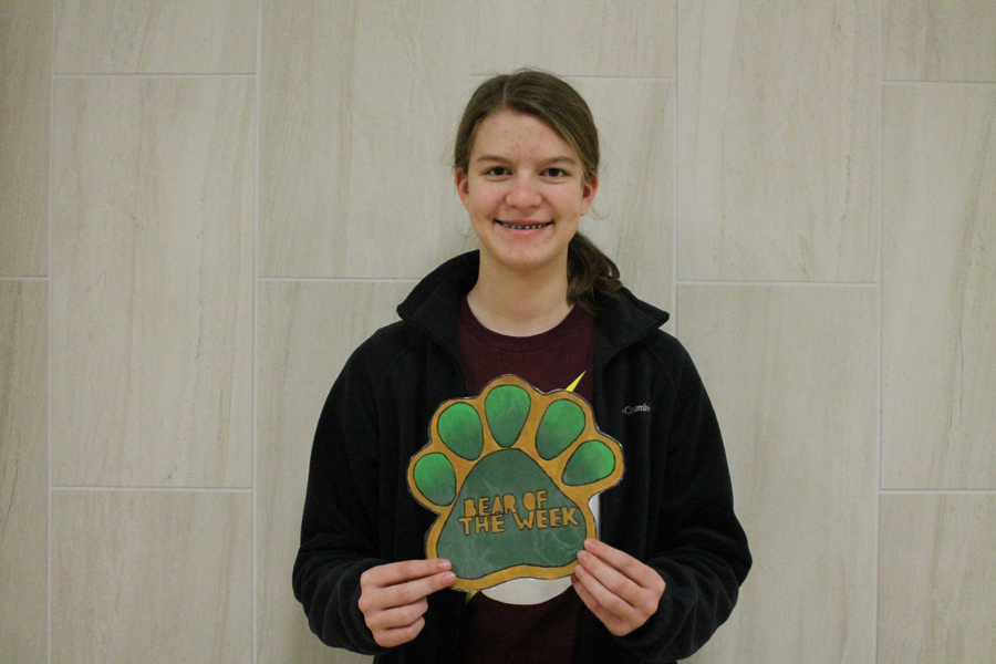 Freshman Grace Huckaby  is the Bear of the Week.