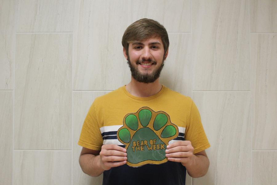 Senior Julian Purgahn is the Bear of the Week.