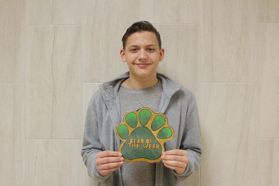Sophomore Michael Andrews is the Bear of the Week.